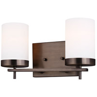 Sea Gull 4490302EN3-778 Zire 2 Light 14 inch Brushed Oil Rubbed Bronze Bath Vanity Wall Light