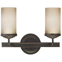Sea Gull 4491402-715 Sfera 2 Light 14 inch Autumn Bronze Bath Vanity Wall Light
