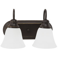 Sea Gull 44940-782 Windgate 2 Light 12 inch Heirloom Bronze Bath Vanity Wall Light in Standard photo thumbnail