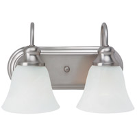 Windgate 2 Light 12 inch Brushed Nickel Bath Vanity Wall Light in Standard