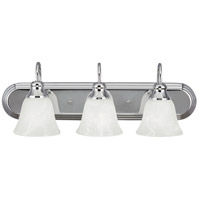Windgate 3 Light 24 inch Chrome Bath Vanity Wall Light in Fluorescent