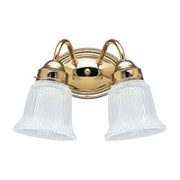 Sea Gull Lighting Brookchester 2 Light Bath Vanity in Polished Brass 4871-02