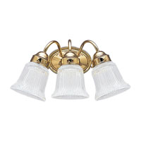 Brookchester 3 Light 17 inch Polished Brass Wall Bath Fixture Wall Light