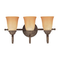 Sea Gull Lighting Brandywine 3 Light Bath Vanity in Antique Bronze 49033BLE-71
