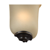 Signature 1 Light 8 inch Heirloom Bronze Bath Vanity Light Wall Light, ADA