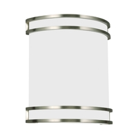 ADA 1 Light 10 inch Brushed Nickel Bath Sconce Wall Light
