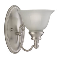 Sea Gull Lighting Canterbury 1 Light Wall Sconce in Brushed Nickel 49650BLE-962