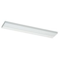 Ambiance Self-Contained Fluorescent Fluorescent 25 inch White Under Cabinet Light in Bulb Included, 24.5