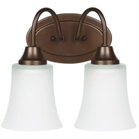 Sea Gull Holman 2 Light Bath Light in Bell Metal Bronze 49807BLE-827