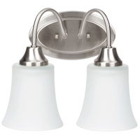 Sea Gull Holman 2 Light Bath Light in Brushed Nickel 49807BLE-962 photo thumbnail