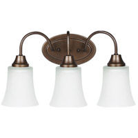 Sea Gull 49808BLE-827 Holman 3 Light 18 inch Bell Metal Bronze Bath Light Wall Light photo thumbnail