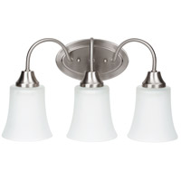 Sea Gull Lighting Holman 3 Light Bath in Brushed Nickel 49808BLE-962