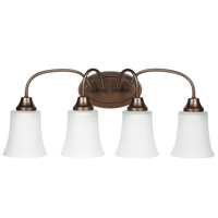 Sea Gull Holman 4 Light Bath Light in Bell Metal Bronze 49809BLE-827