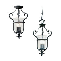 Sea Gull Lighting Manor House 3 Light Pendant Convertible in Weathered Iron 5101-07