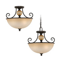Sea Gull Lighting Montclaire 3 Light Pendant Convertible in Olde Iron 51105-72