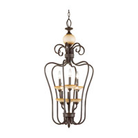 Sea Gull Lighting Montclaire 6 Light Foyer Pendant in Olde Iron 51106-72