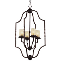 Trempealeau 4 Light 18 inch Roman Bronze Foyer Pendant Ceiling Light