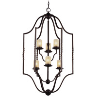 Trempealeau 6 Light 26 inch Roman Bronze Foyer Pendant Ceiling Light