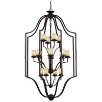 Trempealeau 16 Light 34 inch Roman Bronze Foyer Pendant Ceiling Light