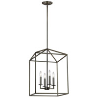 Sea Gull 5115004-782 Perryton 4 Light 16 inch Heirloom Bronze Foyer Pendant Ceiling Light