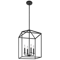 Sea Gull 5115004EN-839 Perryton 4 Light 16 inch Blacksmith Foyer Light Ceiling Light