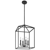 Sea Gull 5115004EN-839 Perryton 4 Light 16 inch Blacksmith Foyer Light Ceiling Light