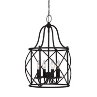 Turbinio 4 Light 15 inch Blacksmith Foyer Light Ceiling Light