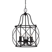 Turbinio 6 Light 22 inch Blacksmith Foyer Light Ceiling Light