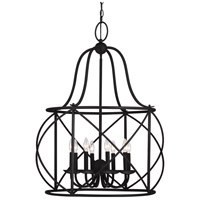 Turbinio 8 Light 30 inch Blacksmith Hall/Foyer Pendant Ceiling Light