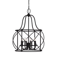 Turbinio 8 Light 30 inch Blacksmith Foyer Light Ceiling Light
