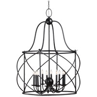 Sea Gull Turbinio 10 Light Foyer Pendant in Blacksmith 5116410-839