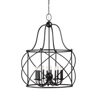 Turbinio 10 Light 37 inch Blacksmith Foyer Light Ceiling Light