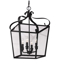 Lockheart 4 Light 14 inch Blacksmith Hall/Foyer Pendant Ceiling Light