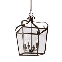 Lockheart 4 Light 14 inch Heirloom Bronze Foyer Light Ceiling Light
