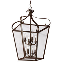 Lockheart 8 Light 18 inch Heirloom Bronze Hall/Foyer Pendant Ceiling Light