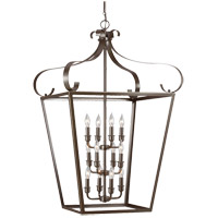 Lockheart 12 Light 25 inch Heirloom Bronze Foyer Pendant Ceiling Light