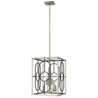 Brushed Nickel Steel Rennie Foyer Pendants