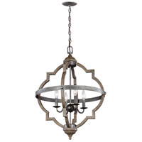 Socorro 4 Light 21 inch Stardust Hall Foyer Ceiling Light