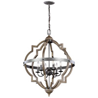 Socorro 6 Light 25 inch Stardust Foyer Light Ceiling Light