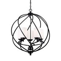 Goliad 5 Light 25 inch Blacksmith Foyer Light Ceiling Light