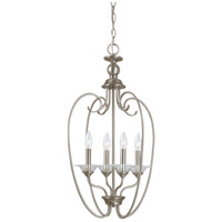 Lemont 4 Light 16 inch Antique Brushed Nickel Foyer Pendant Ceiling Light