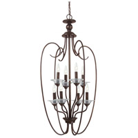 Sea Gull Lighting Lemont 8 Light Foyer Pendant in Burnt Sienna 51317-710