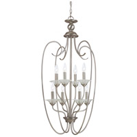 Sea Gull Lighting Lemont 8 Light Foyer Pendant in Antique Brushed Nickel 51317-965