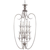 Lemont 12 Light 25 inch Antique Brushed Nickel Foyer Pendant Ceiling Light