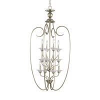 Lemont 12 Light 25 inch Antique Brushed Nickel Foyer Light Ceiling Light