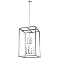 Sea Gull 5134508-872 Moffet Street 8 Light 19 inch Washed Pine Foyer Pendant Ceiling Light