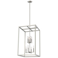 Sea Gull 5134508-962 Moffet Street 8 Light 19 inch Brushed Nickel Hall Foyer Ceiling Light