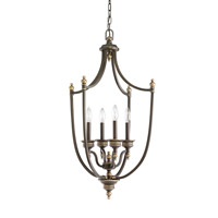 Laurel Leaf 4 Light 19 inch Estate Bronze Foyer Light Ceiling Light