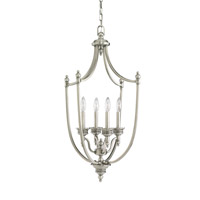 Laurel Leaf 4 Light 19 inch Antique Brushed Nickel Foyer Light Ceiling Light