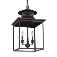 Huntsville 3 Light 14 inch Heirloom Bronze Foyer Light Ceiling Light
